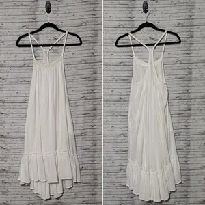 Free People highlow White cotton dress racerback S